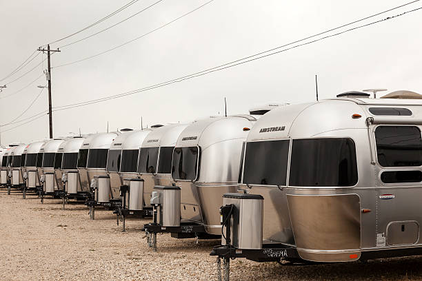 Airstream Trailers at a Dealership in the USA stock photo
