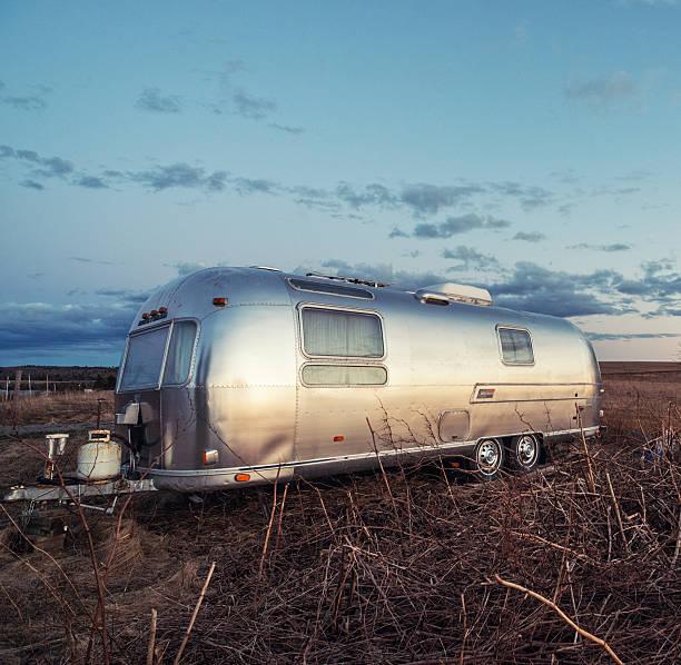 Airstream Travel Trailer stock photo