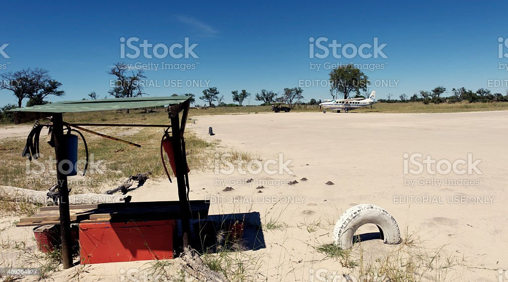 Airstrip in the wilderness royalty-free stock photo
