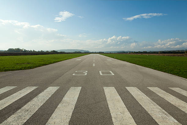 Airstrip plane concrete runway for sports planes airfield stock pictures, royalty-free photos & images
