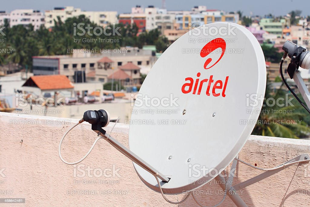 Airtel DTH satellite dish royalty-free stock photo
