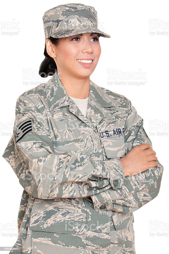 U S Airwoman Portrait stock photo