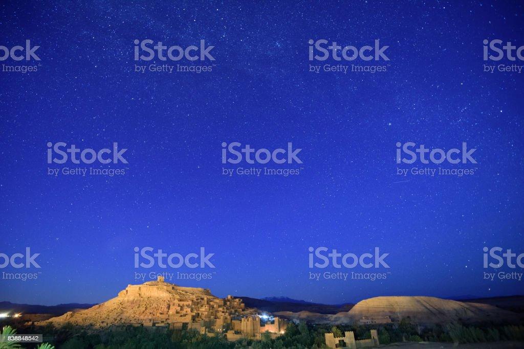 Ait ben haddou night view, Morocco, Africa stock photo