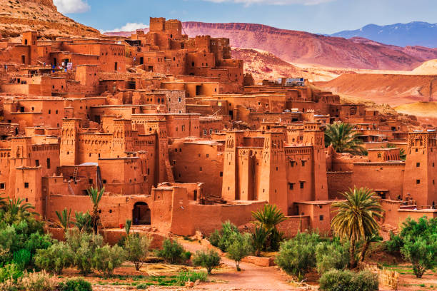 ait benhaddou - ancient city in morocco north africa - unesco foto e immagini stock