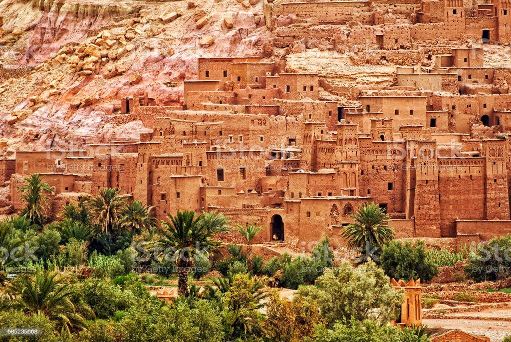 Ait Benhaddou clay kasbah town, Morocco stock photo