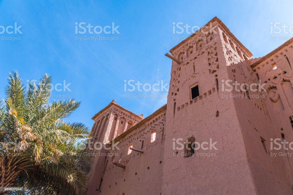 모로코, 아프리카에서에서 고도계 Benhaddou 요새 벽 - 로열티 프리 0명 스톡 사진
