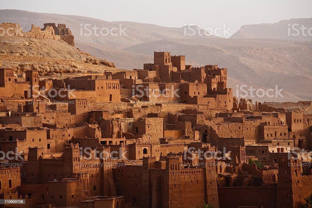 Ait Benhaddou Morocco Ouarzazate Sahara Desert royalty-free stock photo