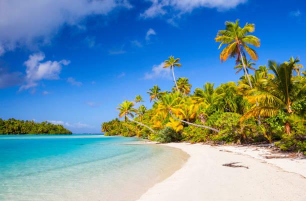 Aitutaki Lagoon In The Cook Islands South Pacific stock photo