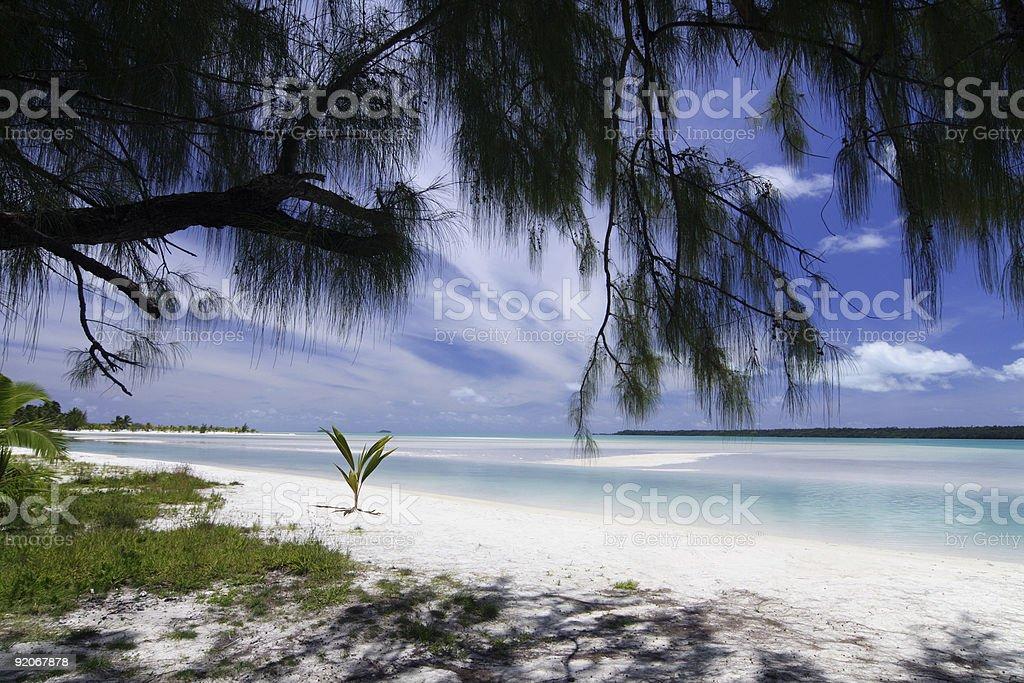 Aitutaki lagoon royalty-free stock photo