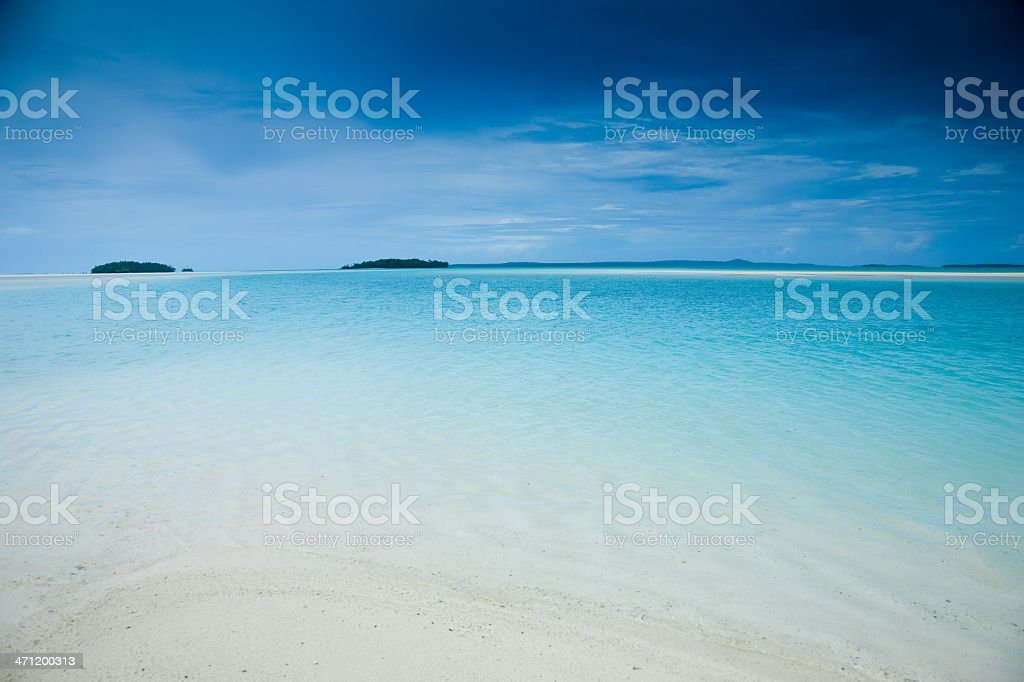 Aitutaki Lonely Islands South Pacific royalty-free stock photo
