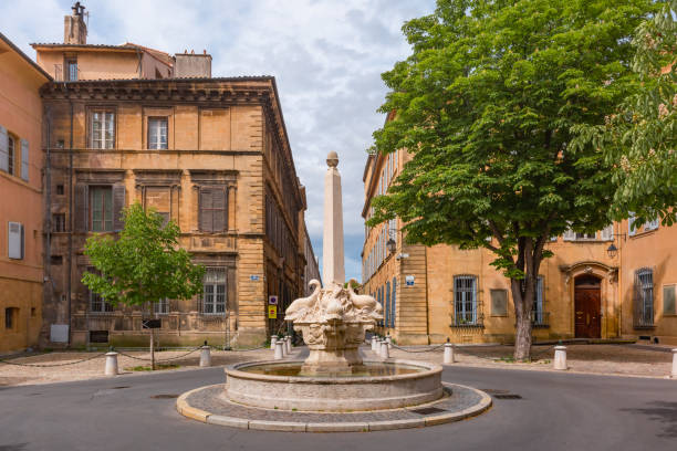 Aix Cathedral in Aix-en-Provence, France stock photo