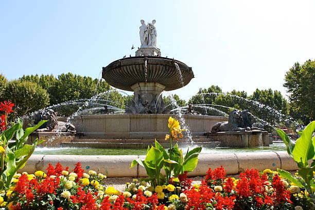 aix-en-provence fontaine - aix en provence photos et images de collection