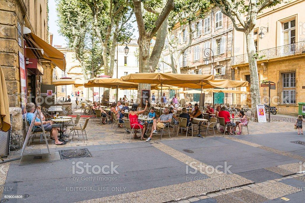 Aix en provence stock photo