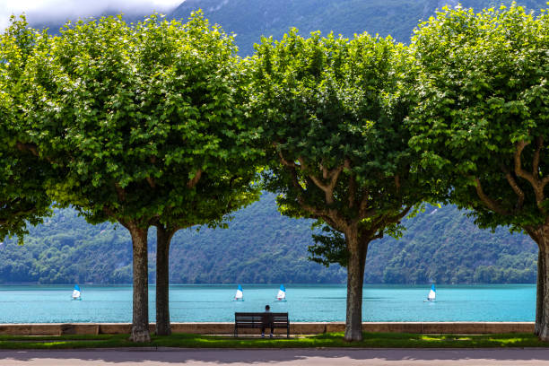 Aix les Bains in the Auvergne-Rhone-Alpes region in south-eastern France stock photo