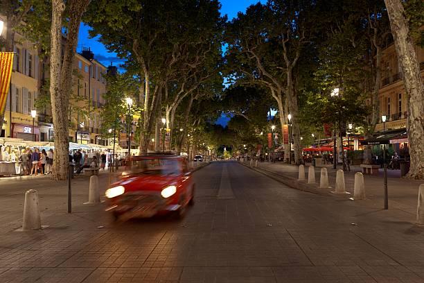 Aix-en-Provence at night stock photo