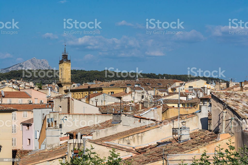 Aix-en-Provence. High partial view stock photo