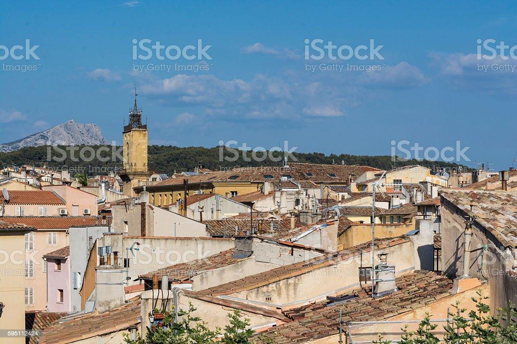 Aix-en-Provence. High partial view - Photo