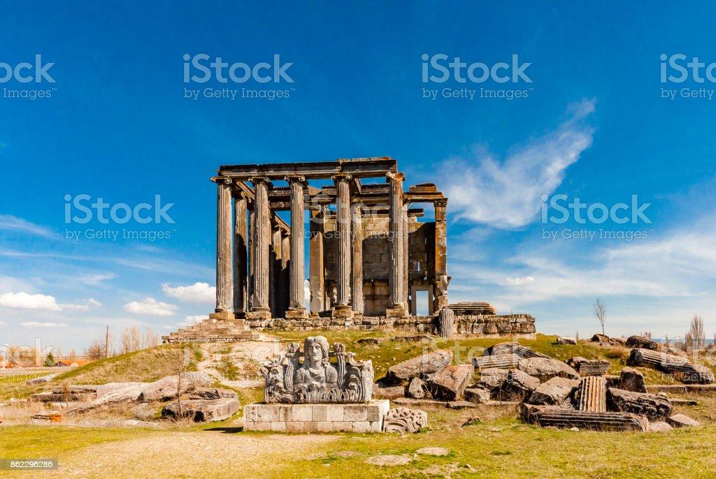 Aizanoi Ancient City in Kutahya Province stock photo