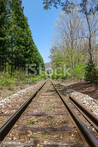 istock Aizu Railway rail seen from the direction of the tower's hetsing station 1319976119