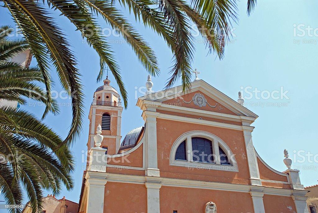 Ajaccio Cathedral, Corsica stock photo