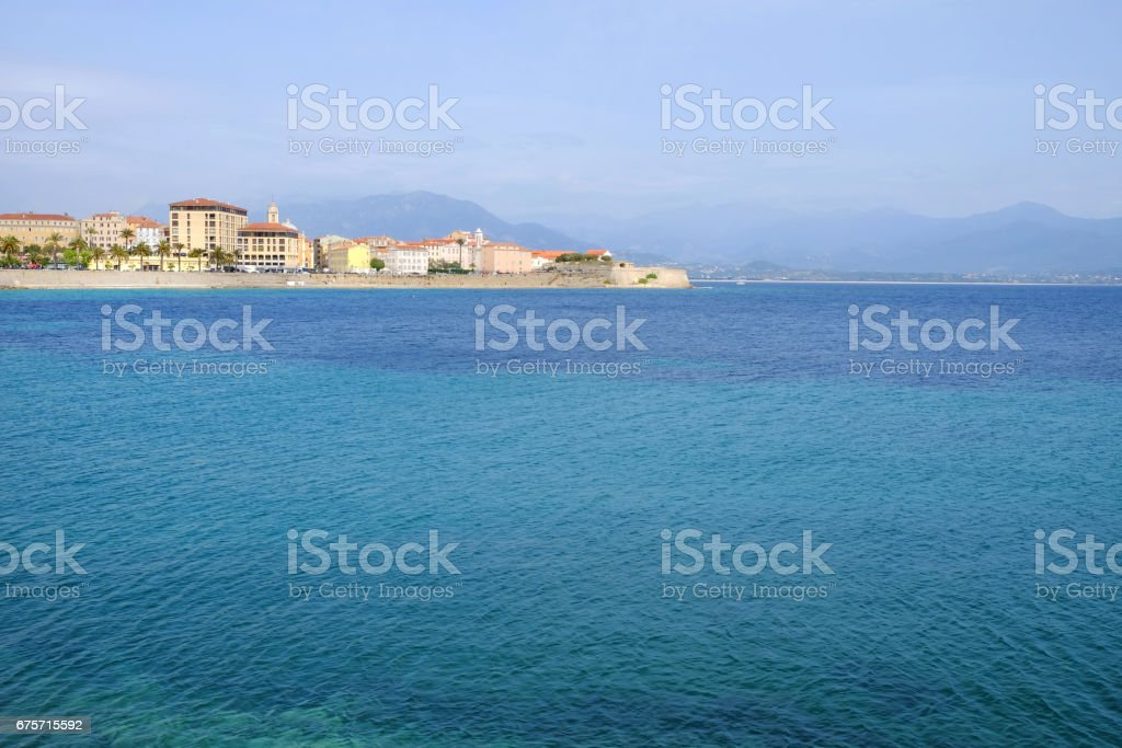 Ajaccio cityscape and view on the sea on the island Corsica, France. 免版稅 stock photo