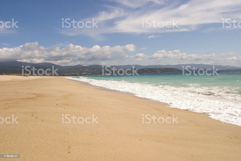 Ajaccio - Corsican beaches serie stock photo