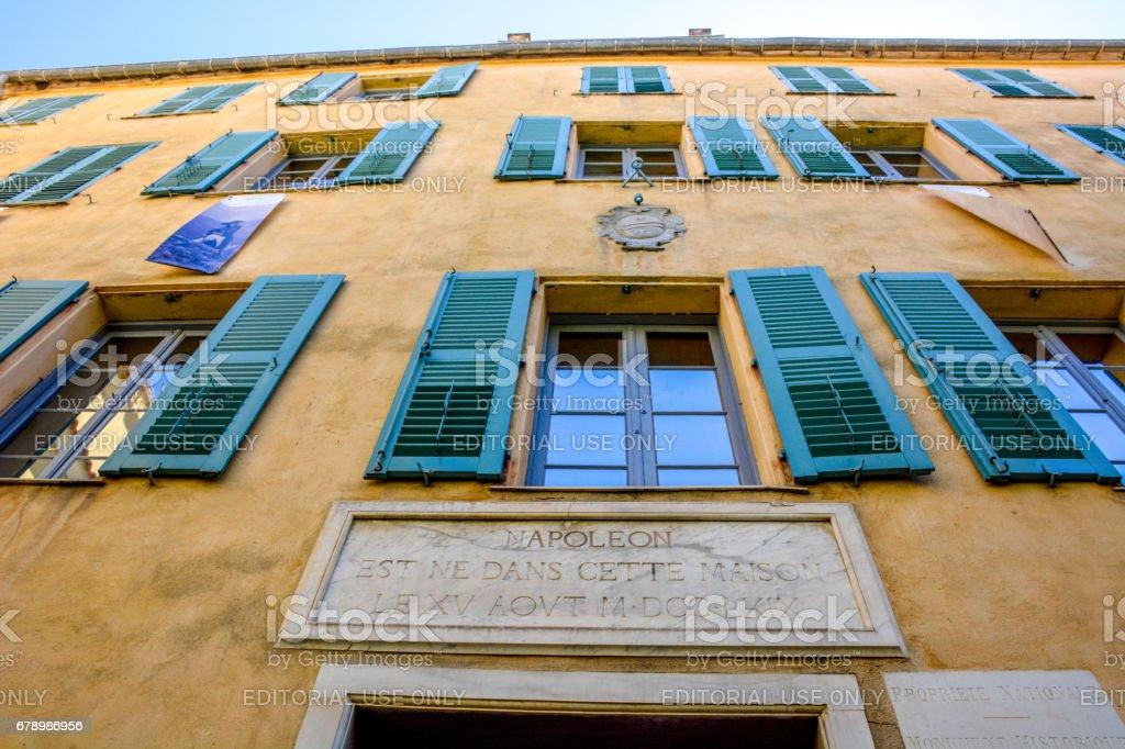 Ajaccio La Maison Bonaparte - foto de stock