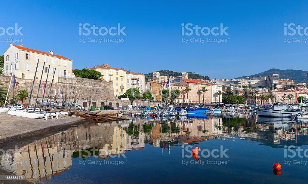 Ajaccio, puerto antiguo, córcega island, Francia - foto de stock