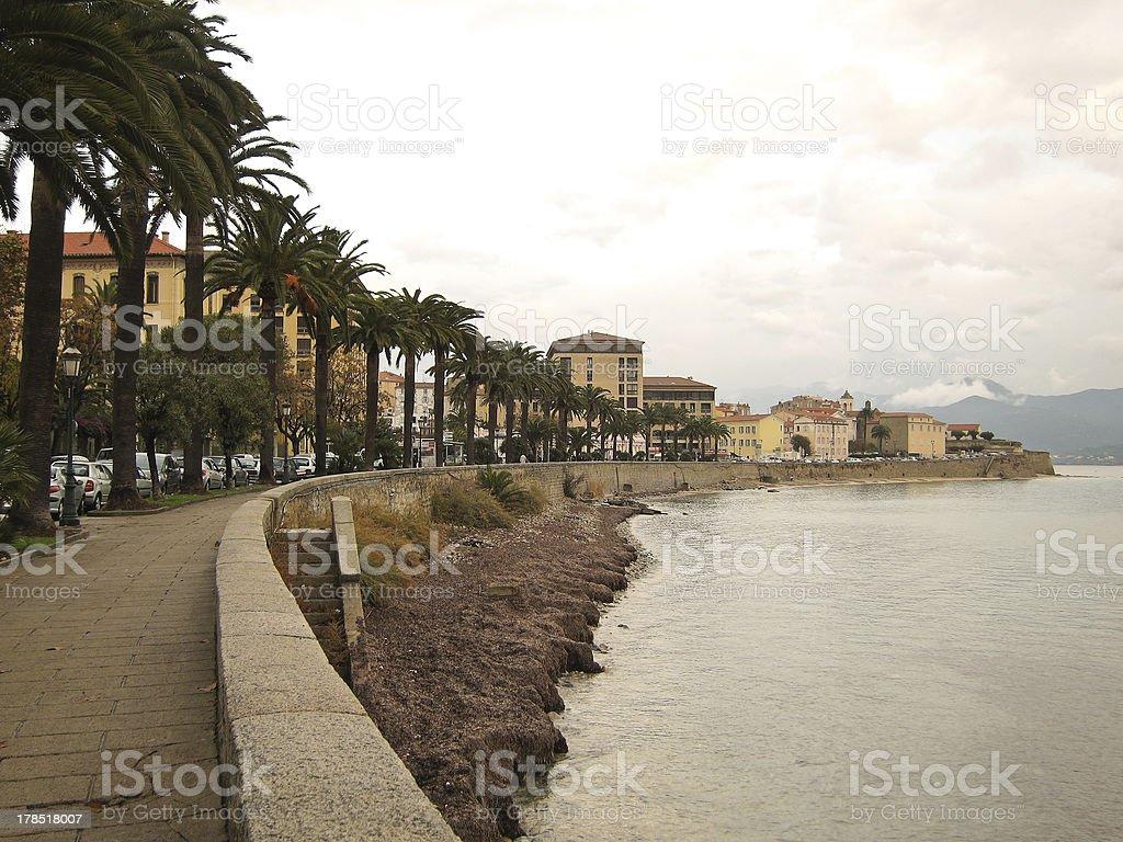 Ajaccio on Corsica royalty-free stock photo