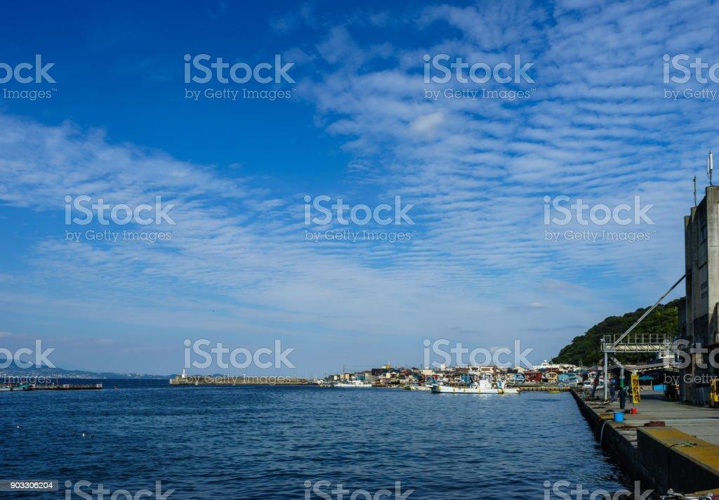 Ajiro Fishing Port stock photo