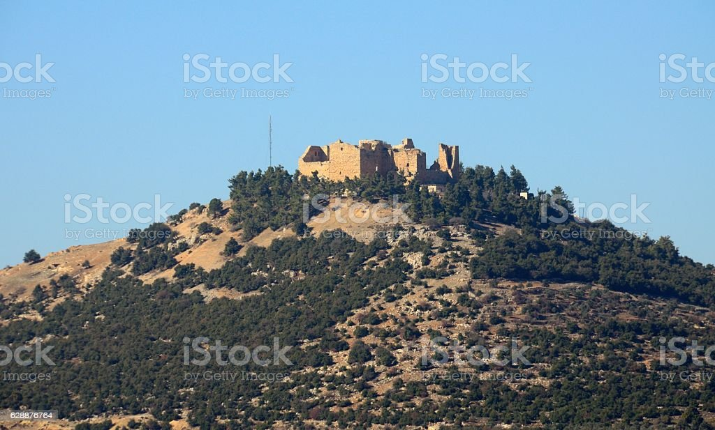 Ajloun Castle and around, Jordan stock photo