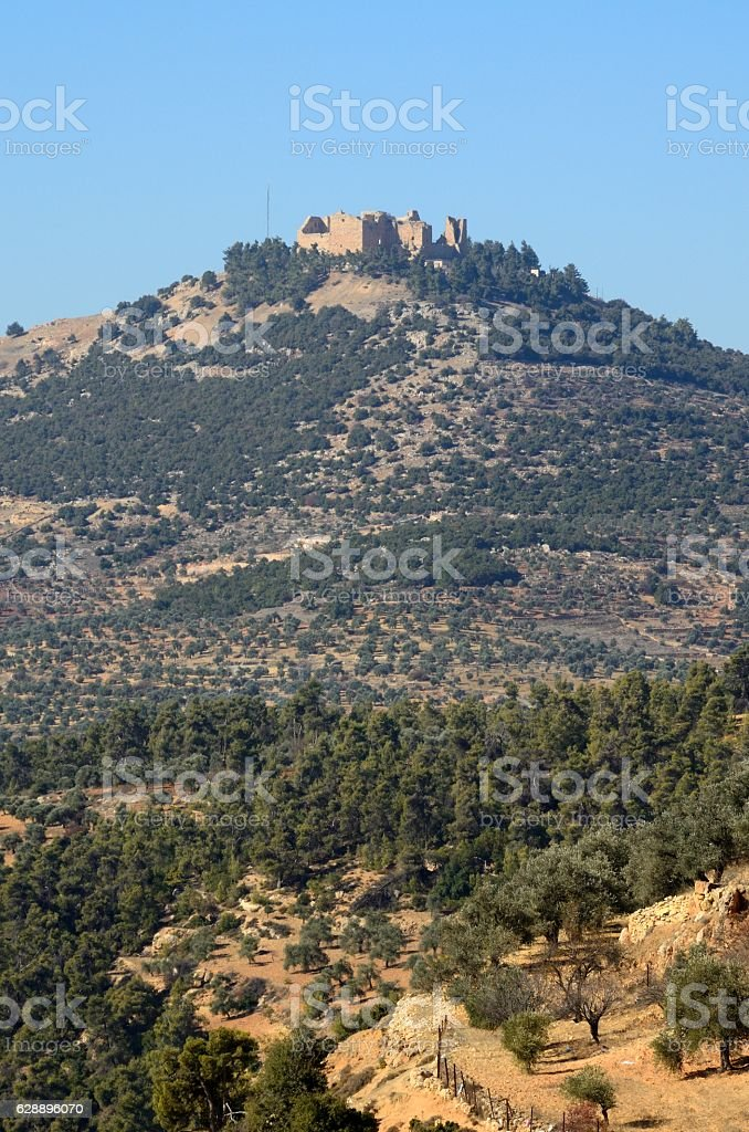 Ajloun Castle and around, Jordan stock photo