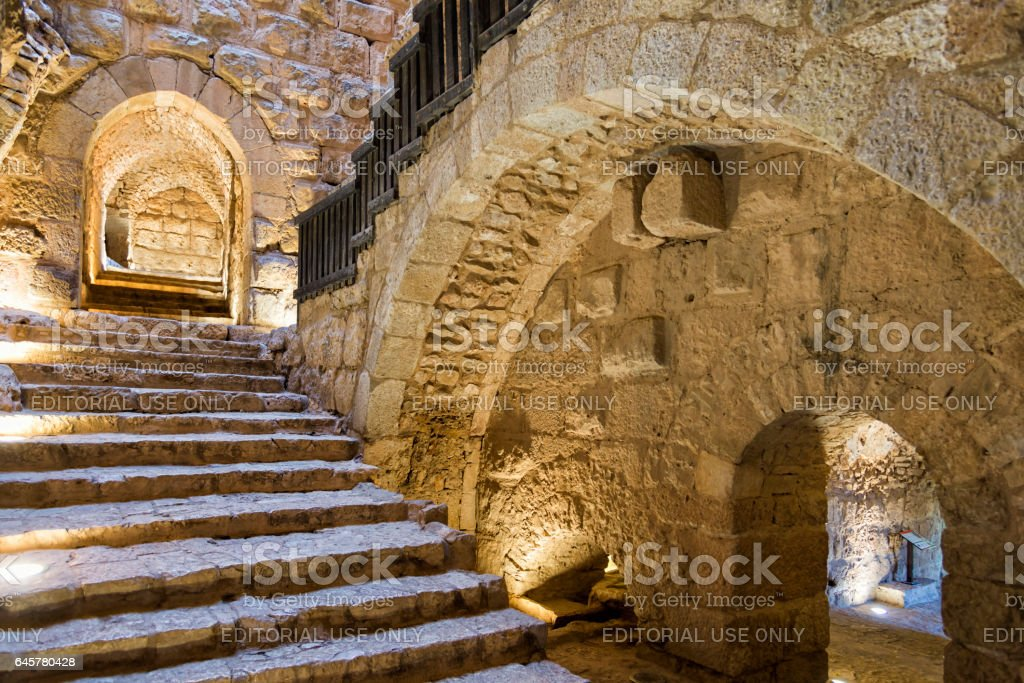 Ajloun Castle main entrance, Jordan stock photo