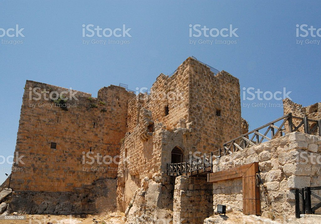 Ajlun castle, Jordan stock photo