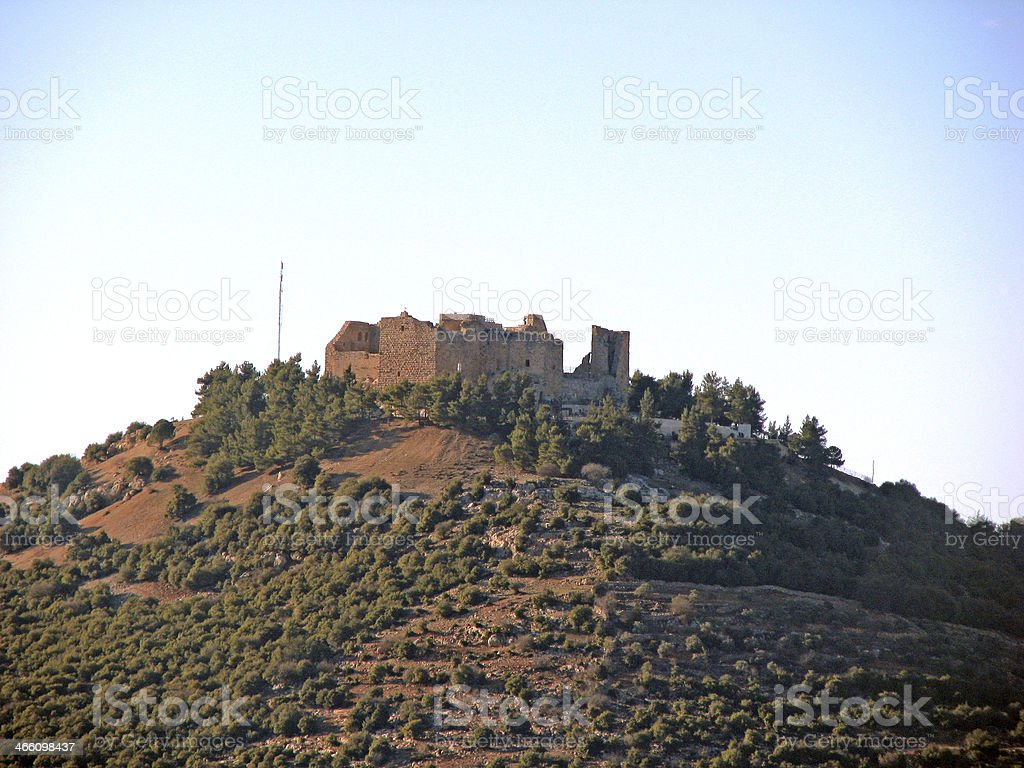 Ajlun Castle stock photo