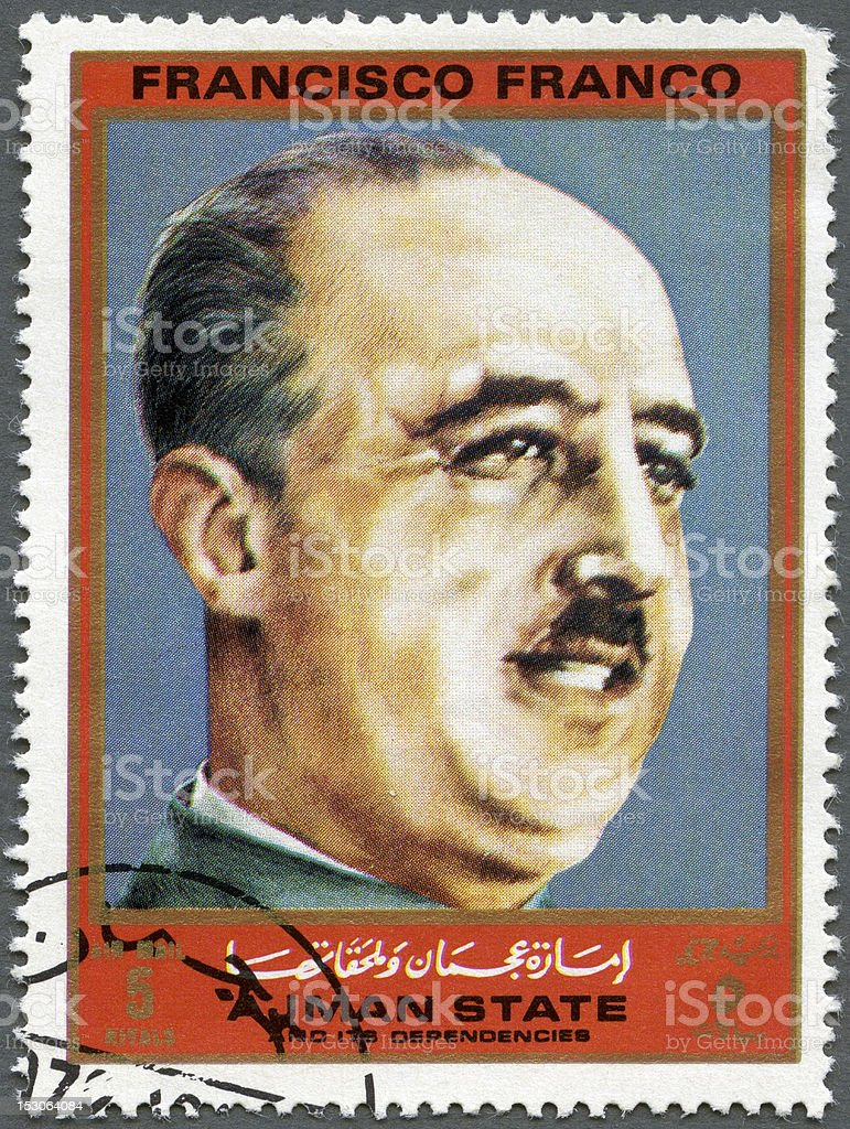 Ajman 1972 Francisco Franco  (1892-1975), series Figures Second World War stock photo