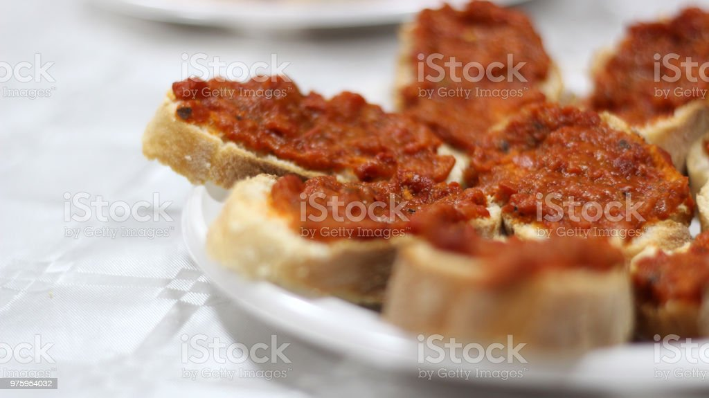 Ajvar Chutney Spread on Bread 2 stock photo
