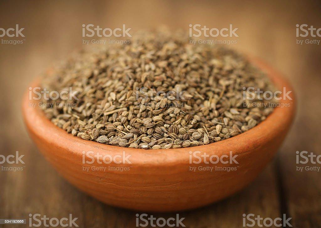 Ajwain seeds stock photo