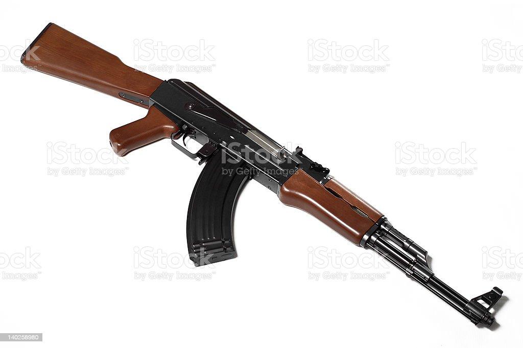 Ak-47 (replica) on white background 1 stock photo