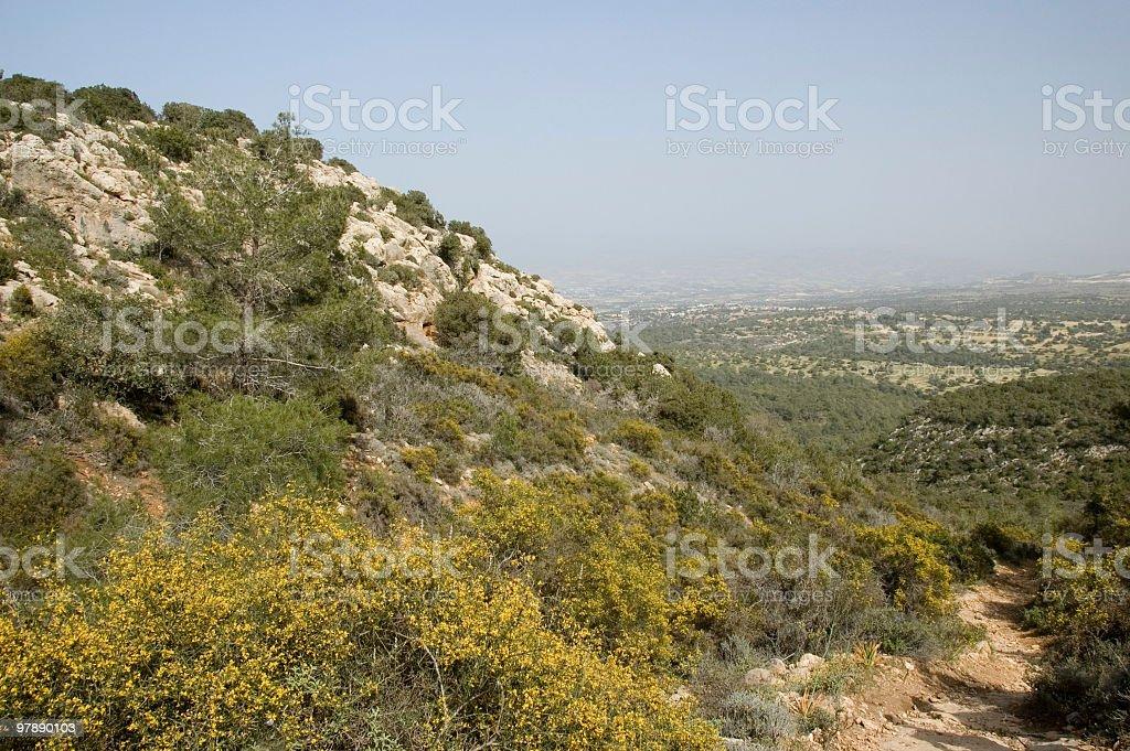 Akamas Landscape royalty-free stock photo