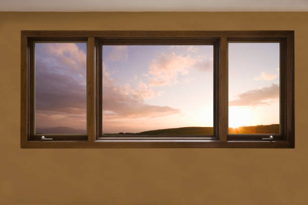 Akane-IRO NI somaru window stock photo