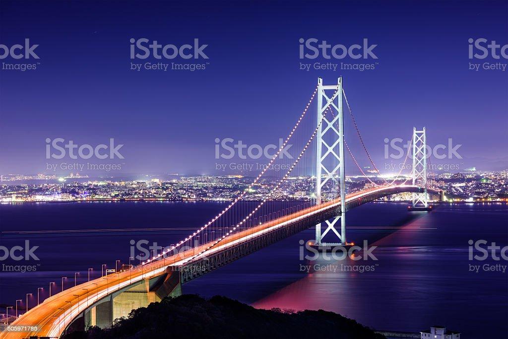 Akashi Bridge of Japan stock photo