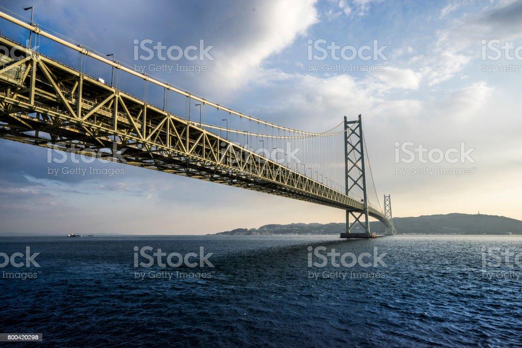 Akashi Kaikyo Bridge stock photo