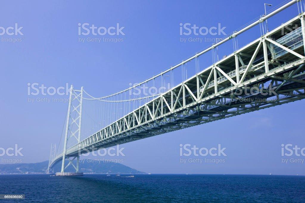 Akashi-Kaikyo Bridge foto stock royalty-free