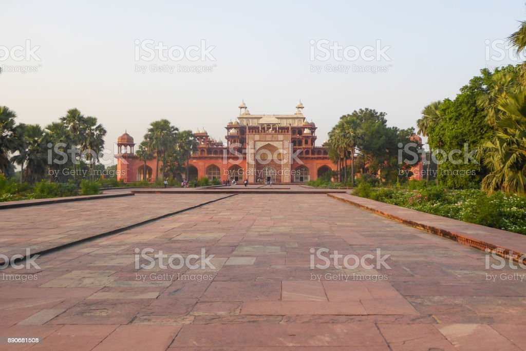 Akbar Tomb in Sikandra, near Agra, Uttar Pradesh state, northern India, Asia stock photo