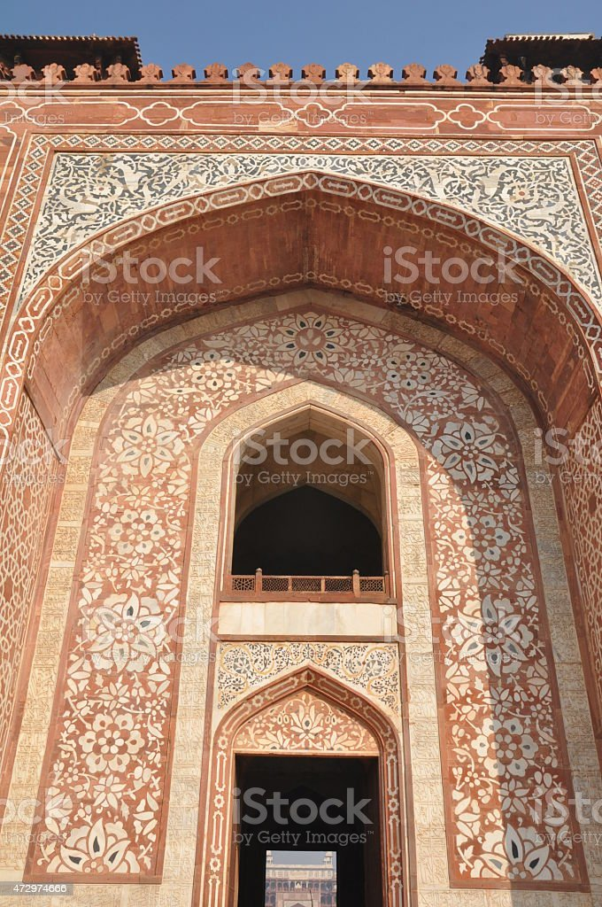 Akbar's Tomb at Sikandra (Agra) in India stock photo