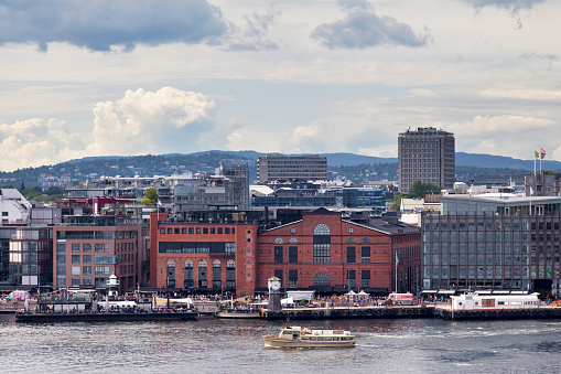 Aker Bruges In Oslo Stock Photo - Download Image Now