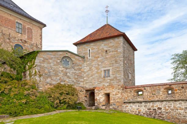Akershus Castle church in Oslo stock photo