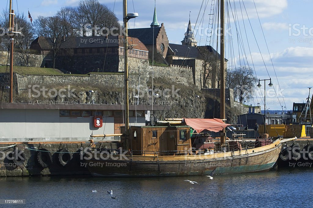 Akershus fort in Oslo. royalty-free stock photo