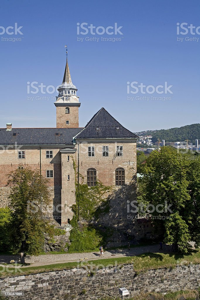 Akershus Fortress  in Oslo royalty-free stock photo